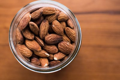 bowl of almonds soaking before dehydrating